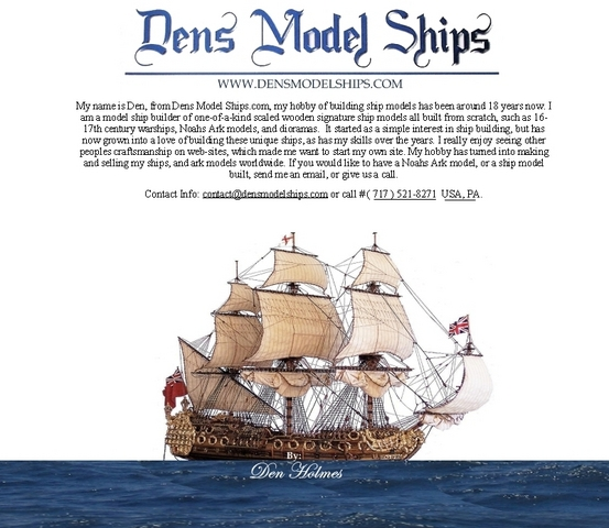 About Dens Model Ships