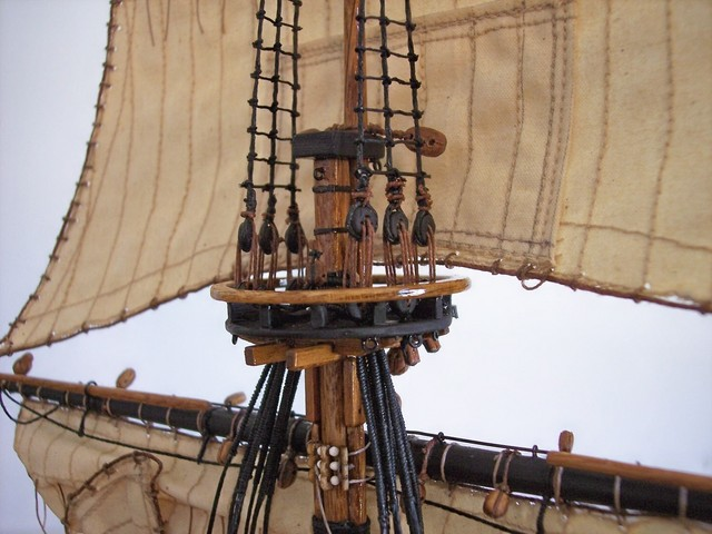 How to Rig the Masts: Top Mast Shroud