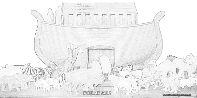 Noah`s Ark Coloring Pages: NOAHS ARK COLOR PAGE 1